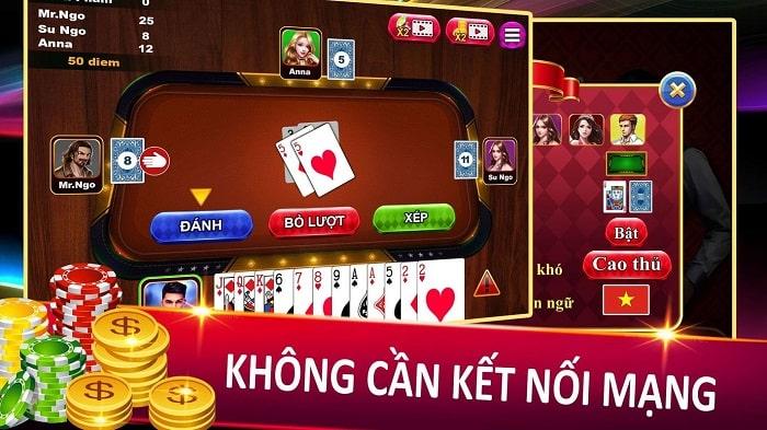 Game đánh bài không cần mạng - Sâm Lốc
