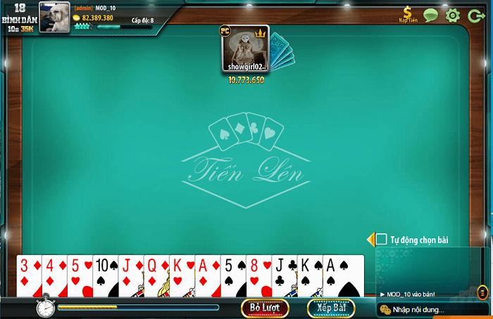 Game đánh bài không cần mạng - Tiến lên miền Nam